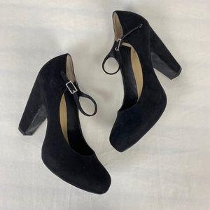 Crown Vintage Tess Black Mary Jane Platform Heels